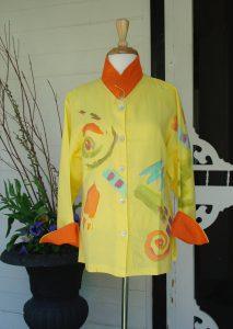 Yellow Linen Jacket