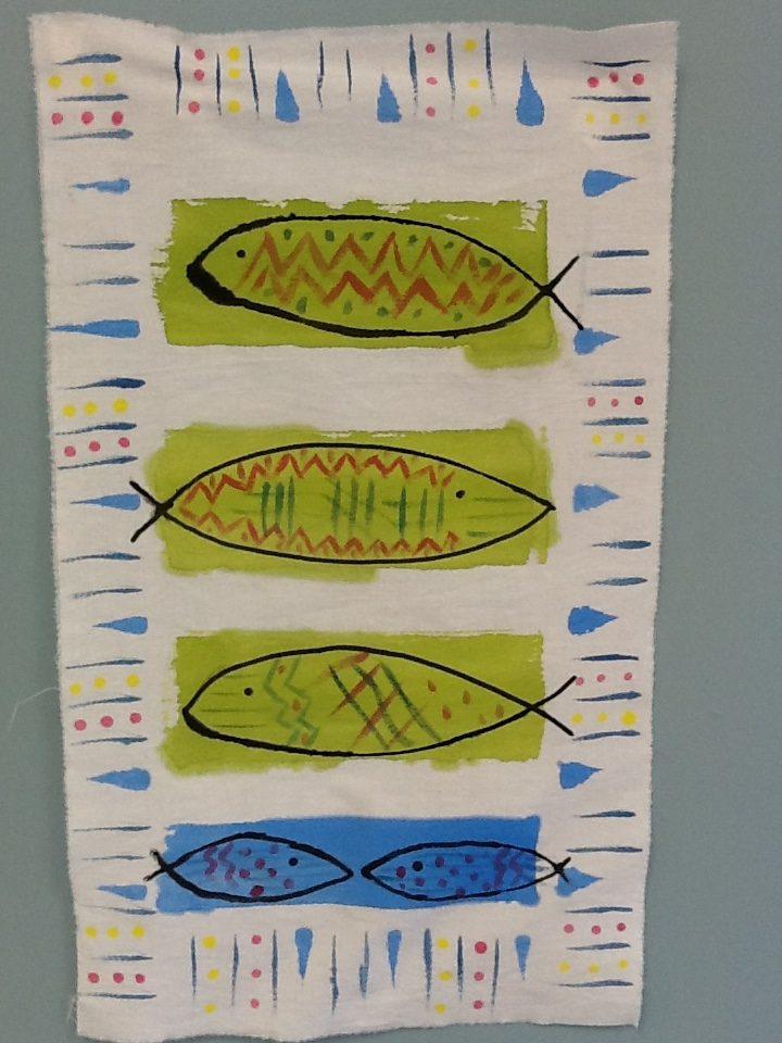 Hand Painted Cloth Fish