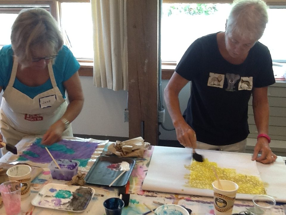 Hand Painted Cloth Workshop 2